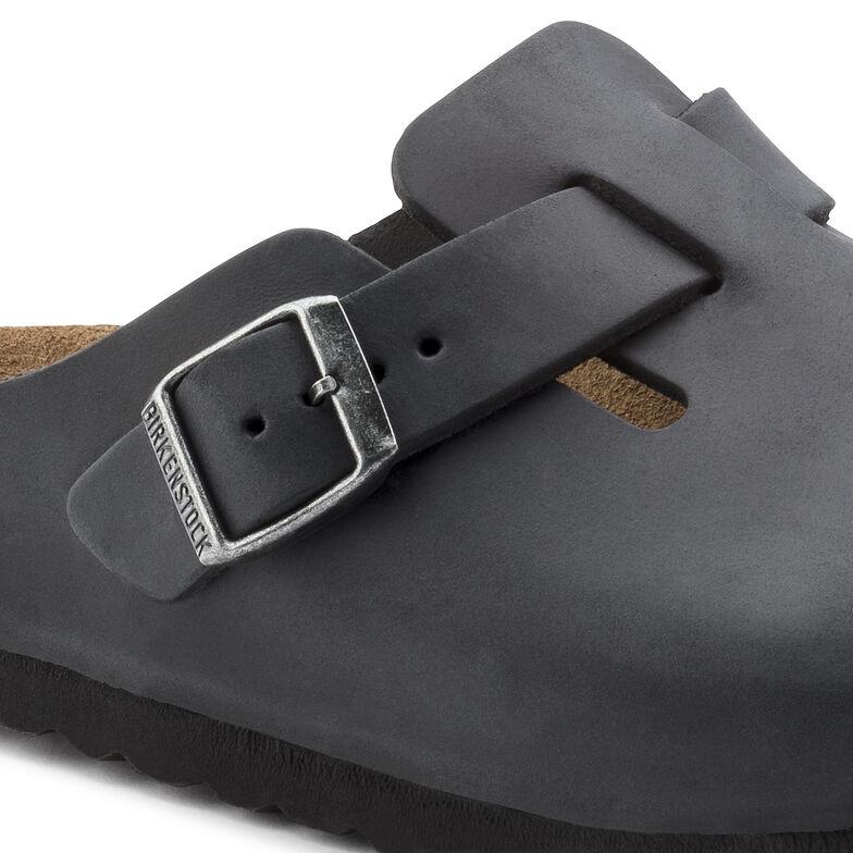 Boston Oiled Leather Schwarz