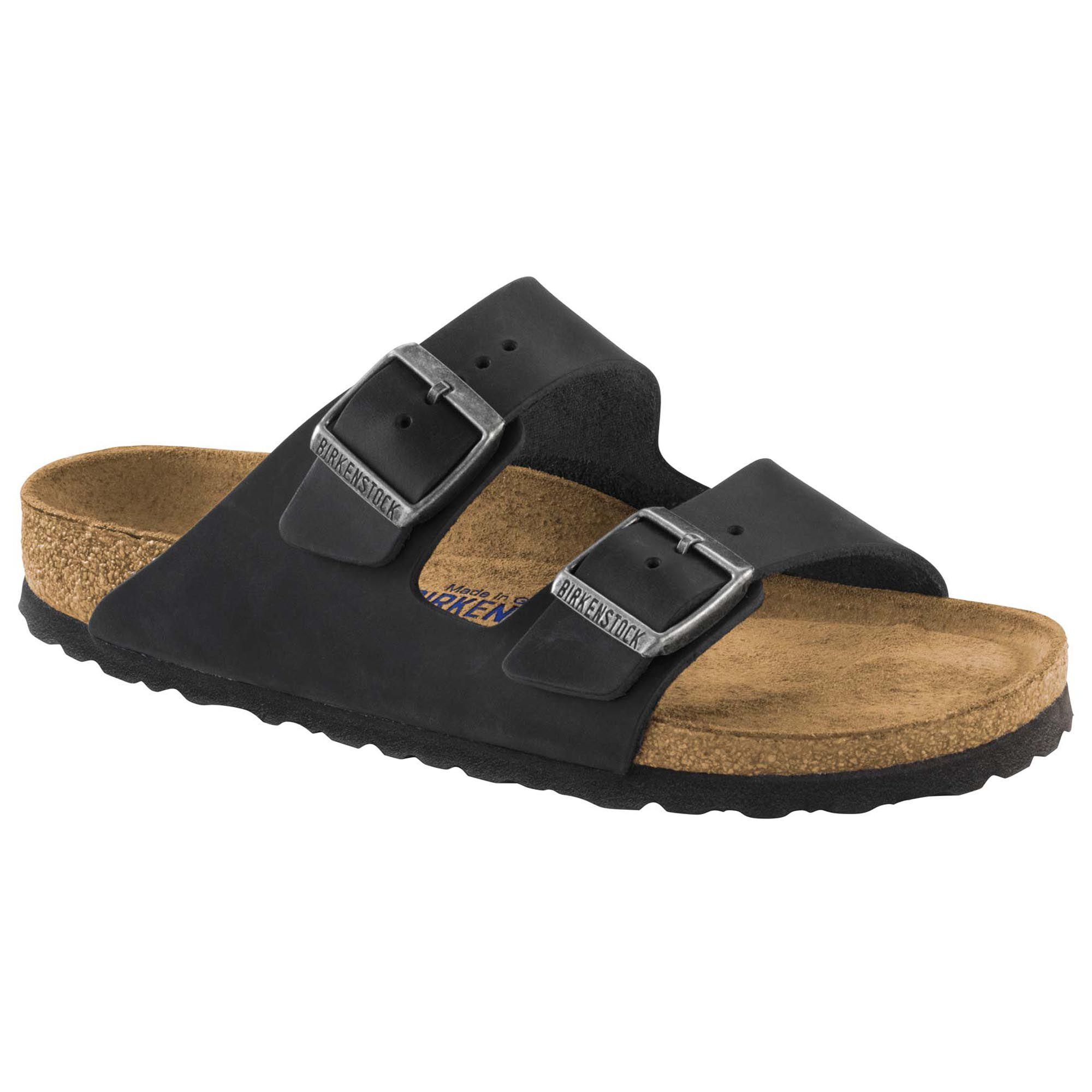 38e15798aa2f Arizona Nubuck Leather Soft Footbed Black