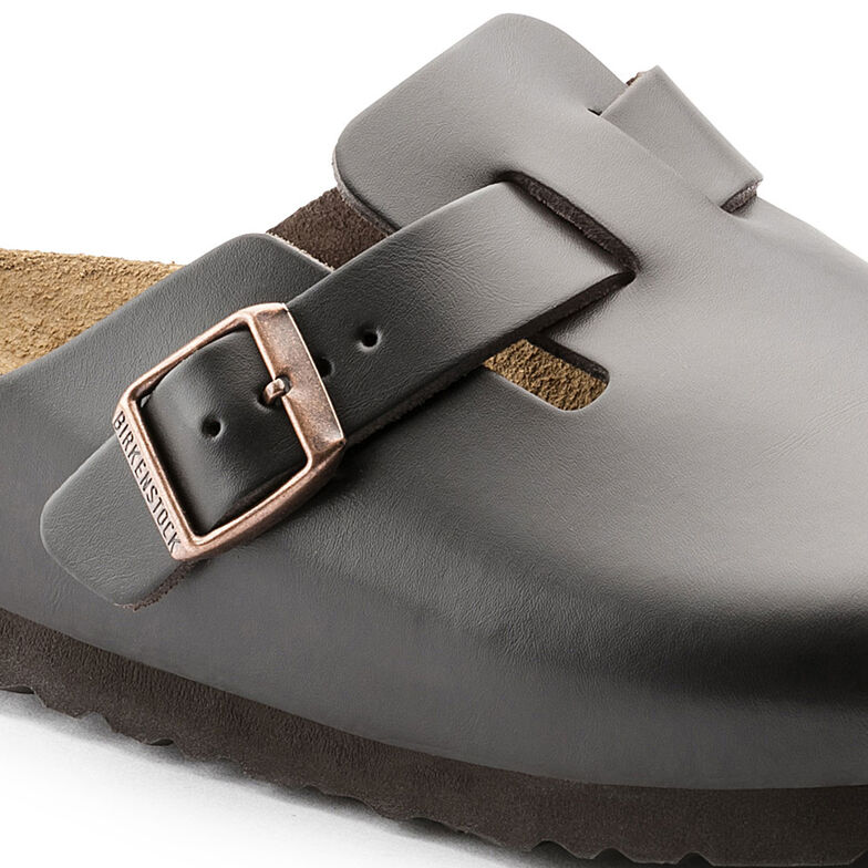 Boston Natural Leather Soft Footbed Braun