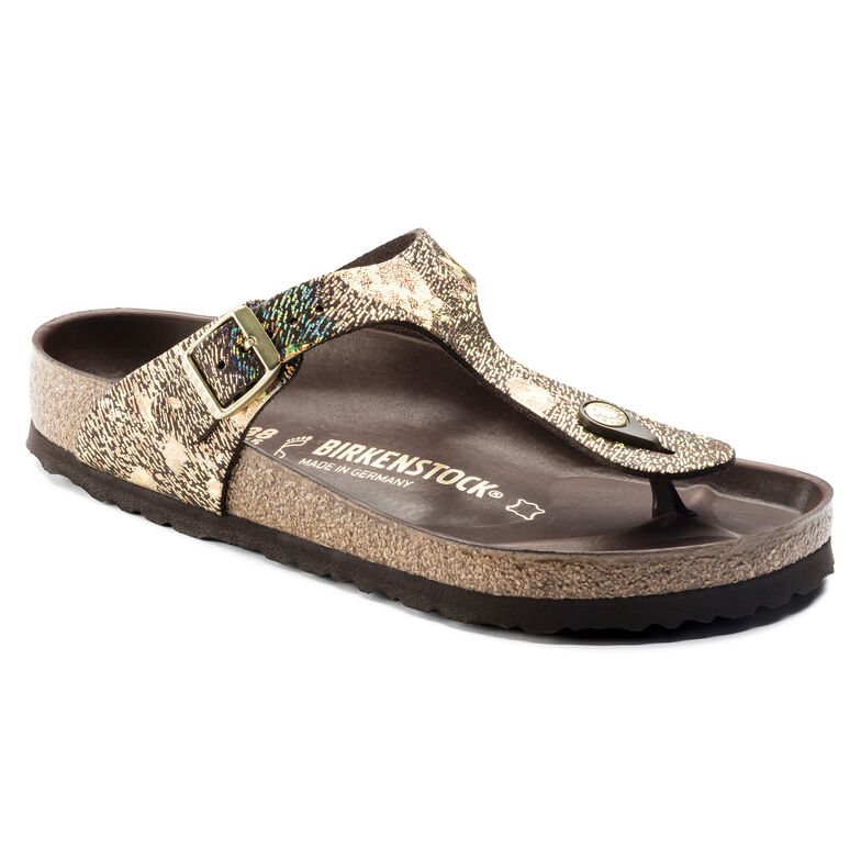 Gizeh Natural Leather Spotted Metallic Brown