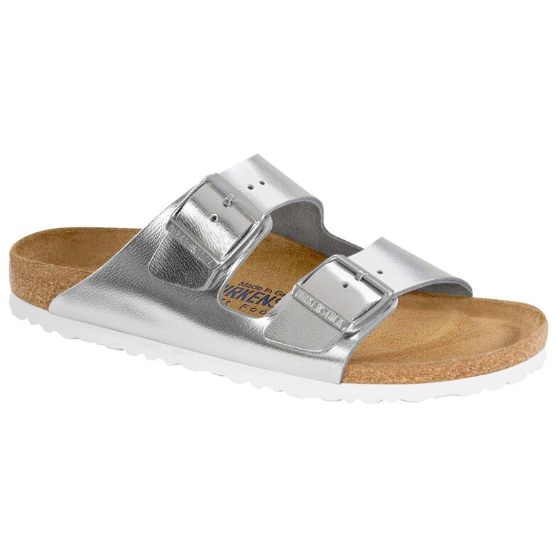 Arizona Natural Leather Soft Footbed Sirocco Silver
