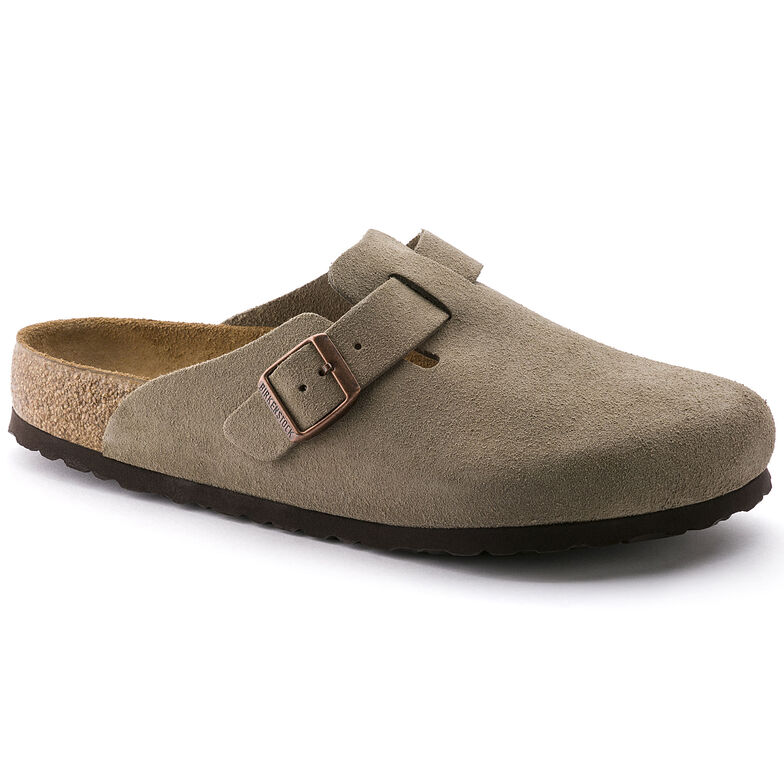 Boston Suede Leather Soft Footbed Taupe