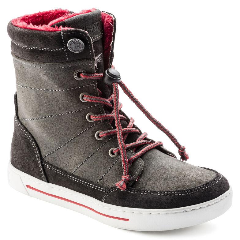 Currow Suede Leather Asphalt