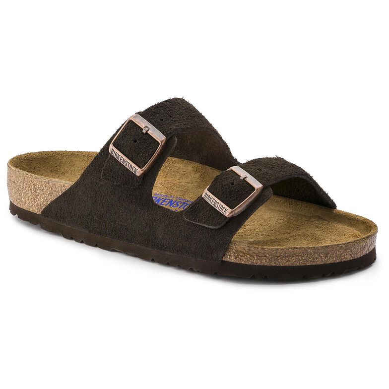 Arizona Suede Leather Soft Footbed Mocha