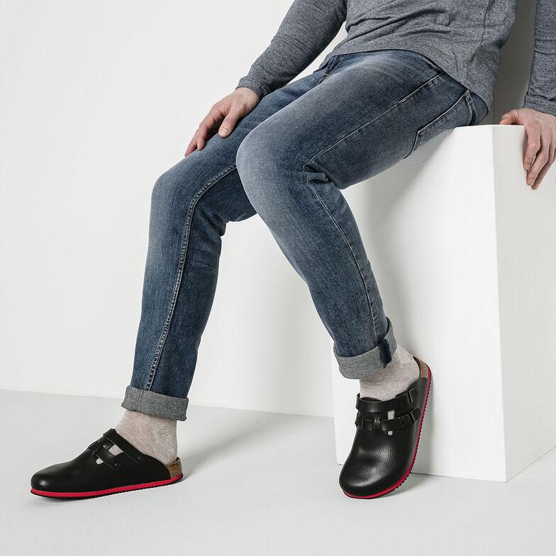 Kay Natural Leather Soft Footbed Black