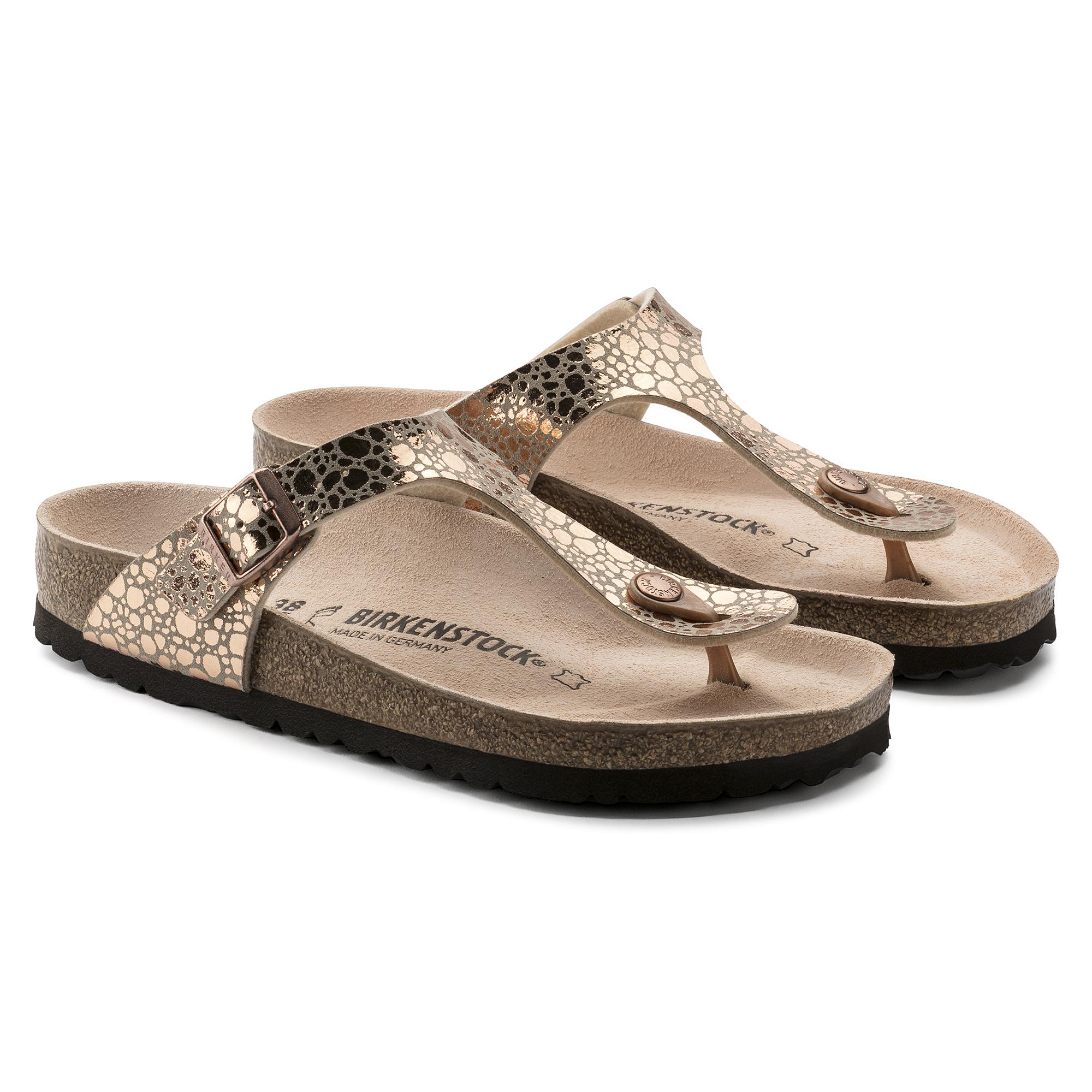 Birkenstock Gizeh Metallic Stones Copper Shoemed