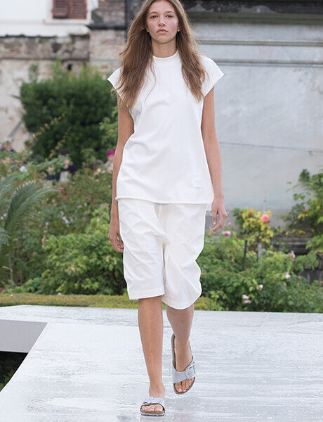 Spring Summer 19 Launch Event runway model in Madrid