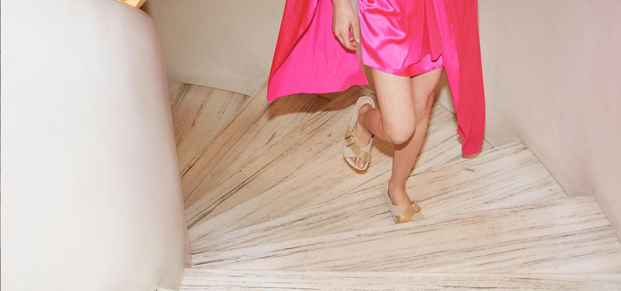 Barney's Box footwear on model