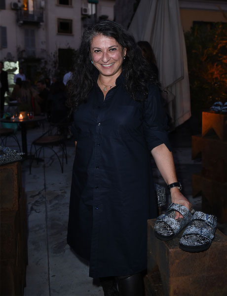 Corso Como Box launch attendee with footwear