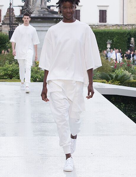Spring Summer 19 Launch Event runway model in sneakers