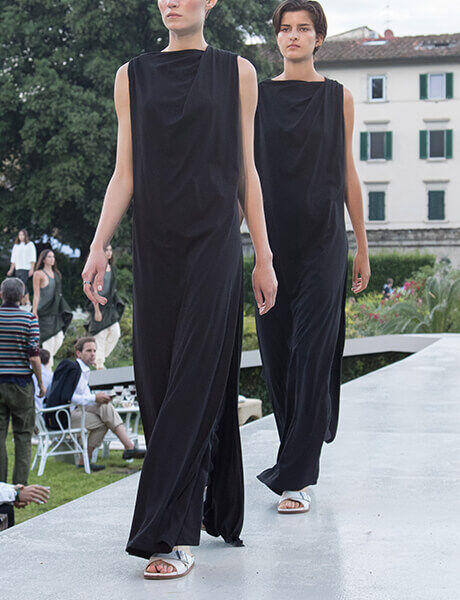 Spring Summer 19 Launch Event runway model in Siena