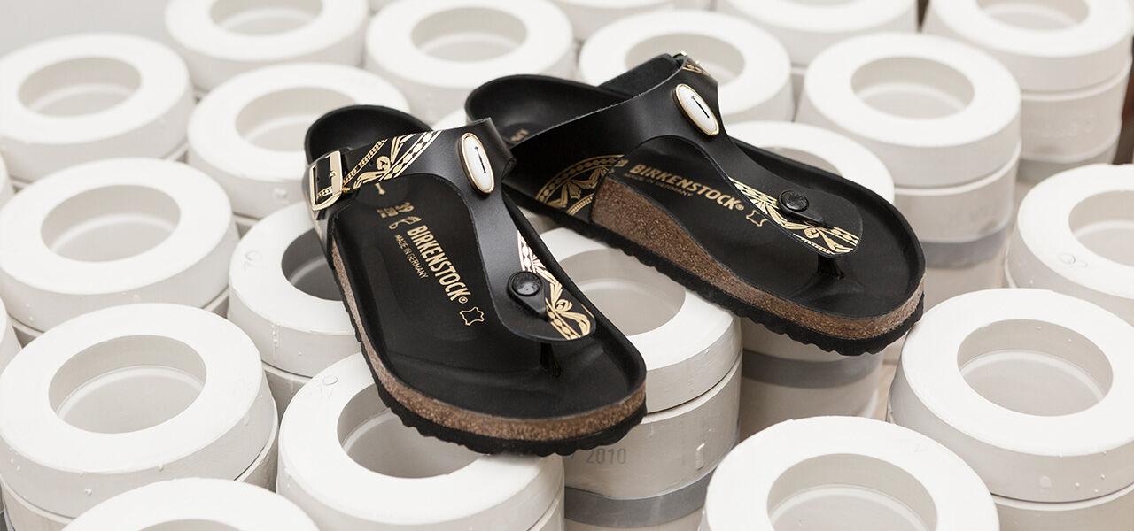 KPM and Birkenstock footwear on model