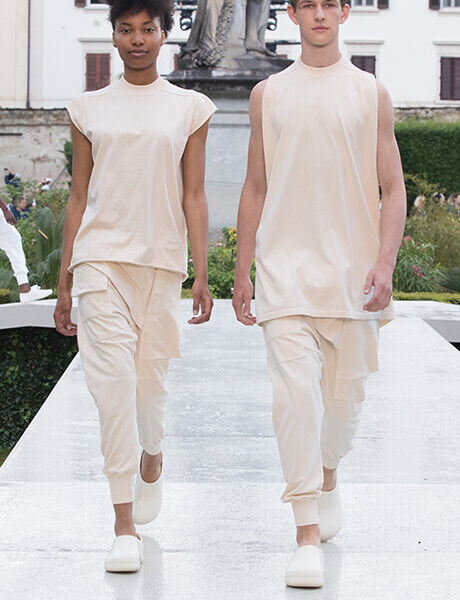 Spring Summer 19 Launch Event runway model in professional footwear