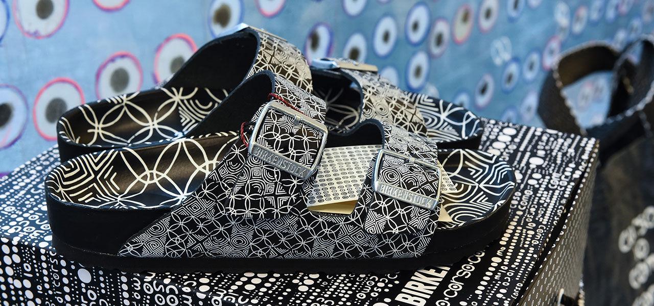 Corso Como Box interior with footwear