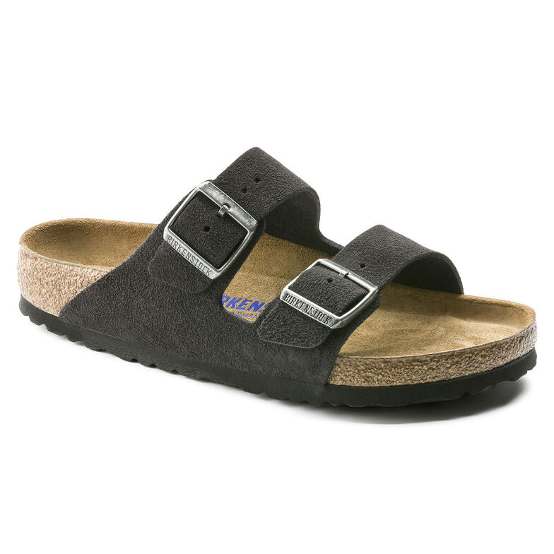 Arizona Suede Leather Velvet Gray
