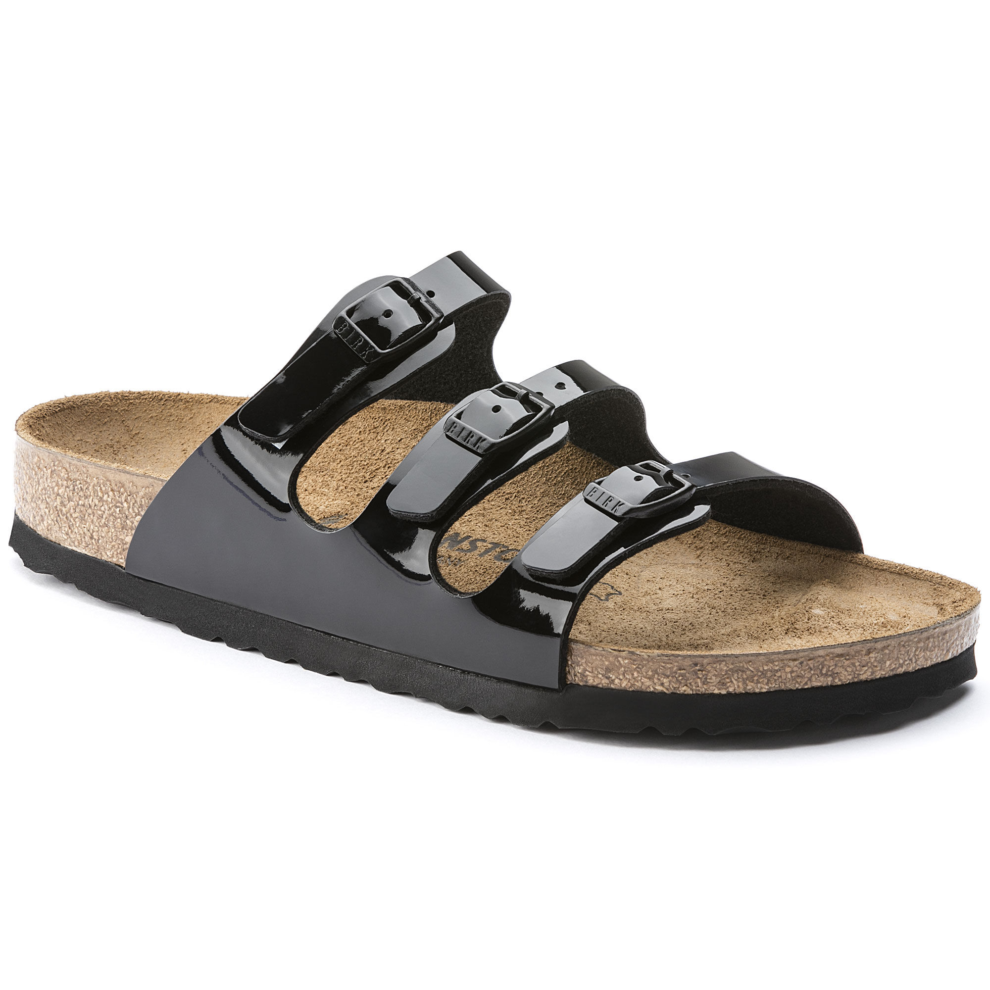 Papillio Womens by Birkenstock Florida Black Leather Sandals 38 EU lyD3Mzle