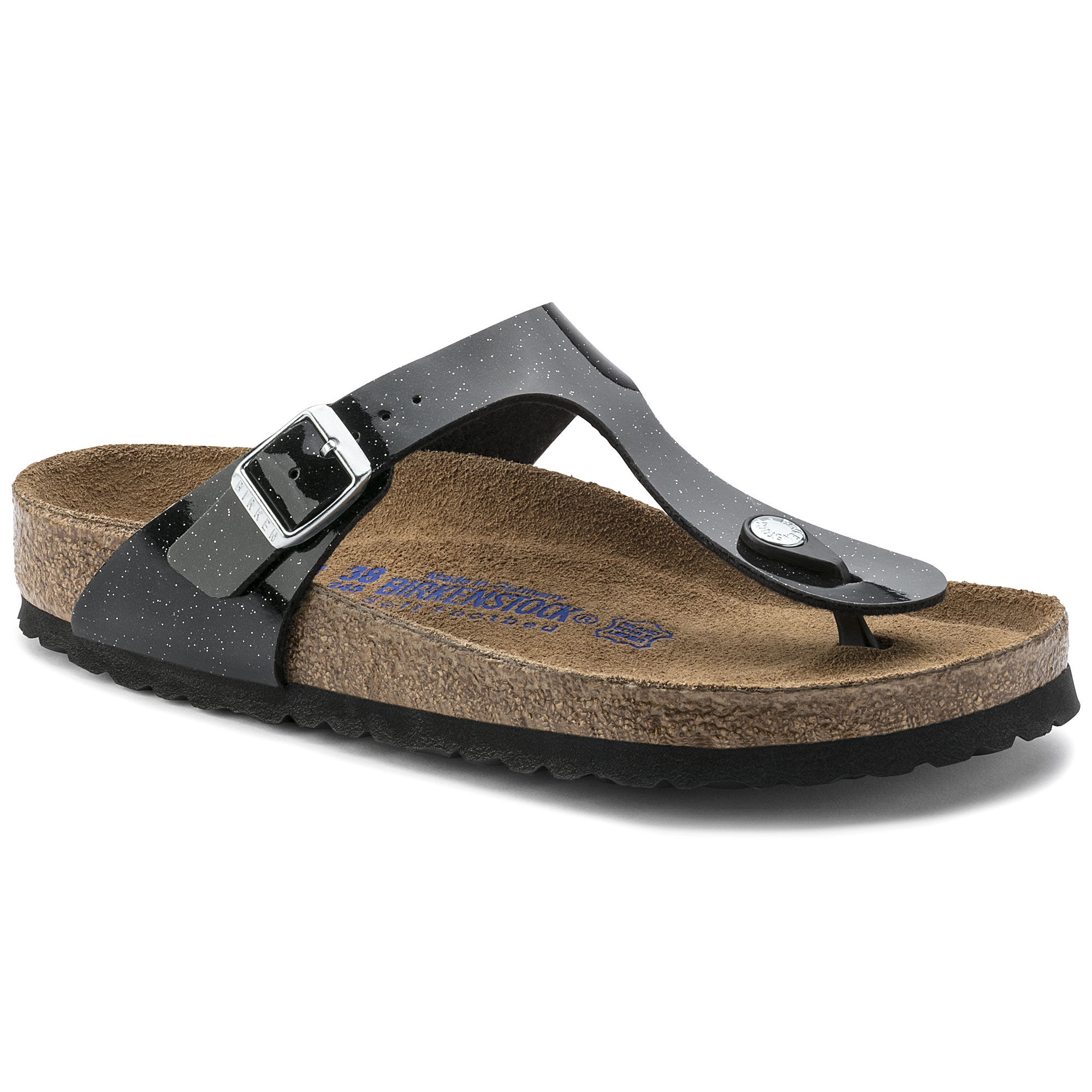 Marques Chaussure femme Birkenstock femme Gizeh Flor W Magic Galaxy Black