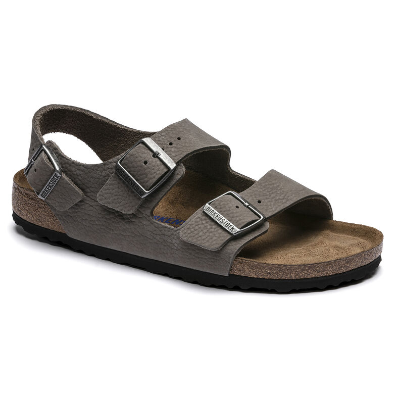 Milano BS Nubuck Leather Soft Whale Gray
