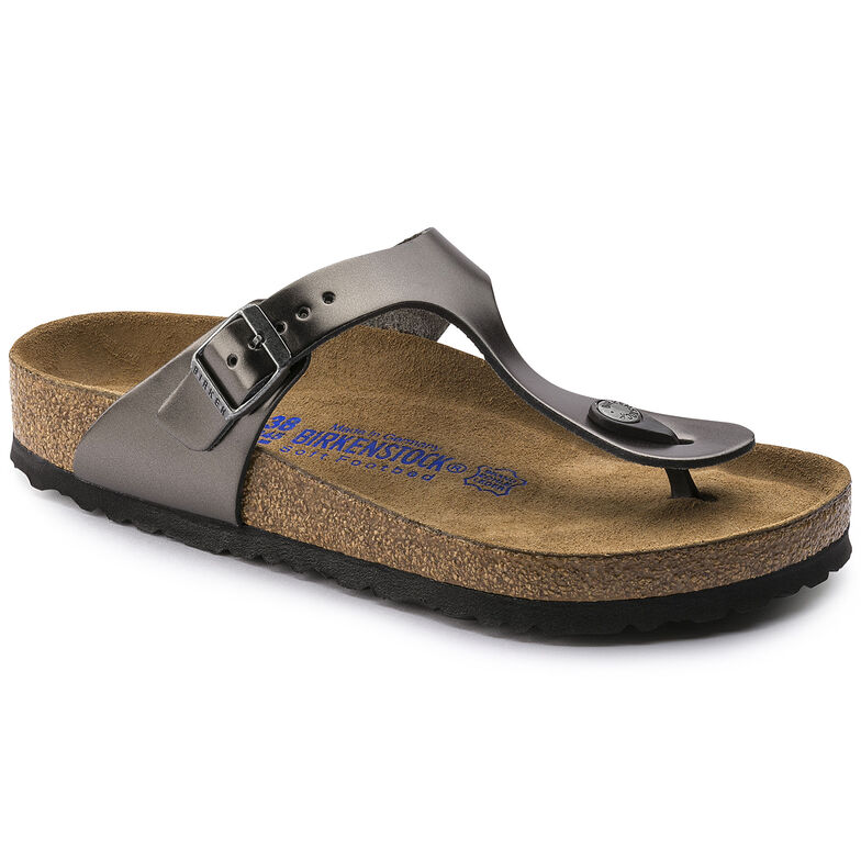 Gizeh Natural Leather Metallic Anthracite