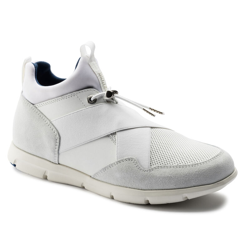 Ames Suede Leather White