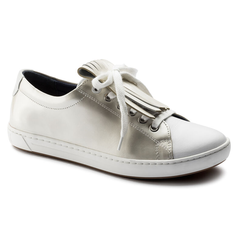 Arran Mixed Leather Off White