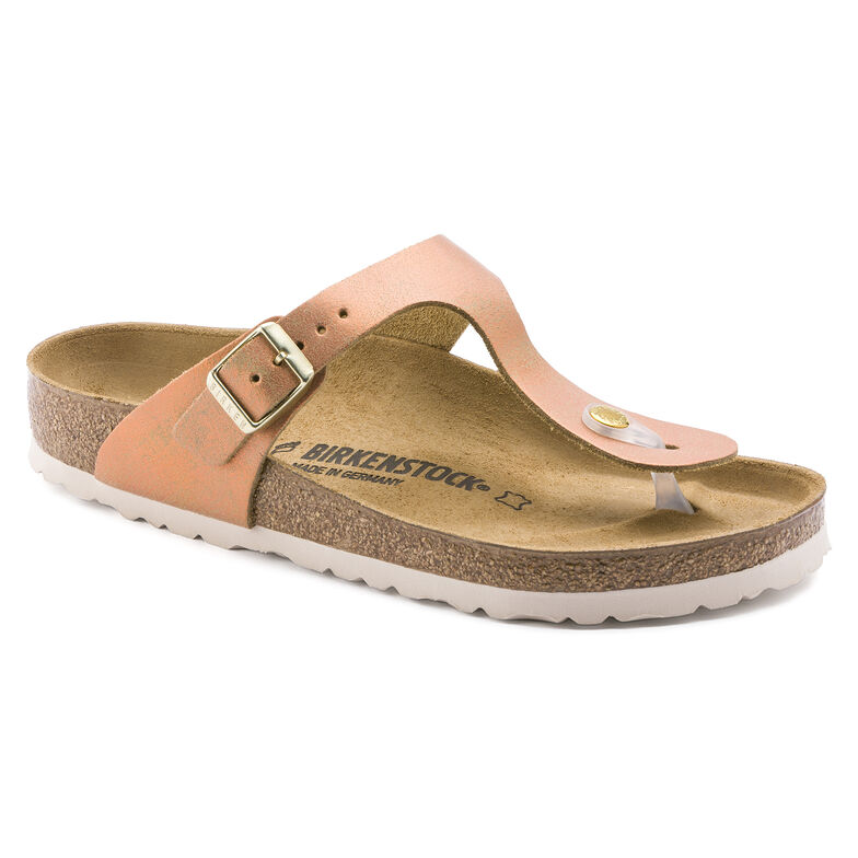 Gizeh Suede Leather Washed Metallic Sea Copper