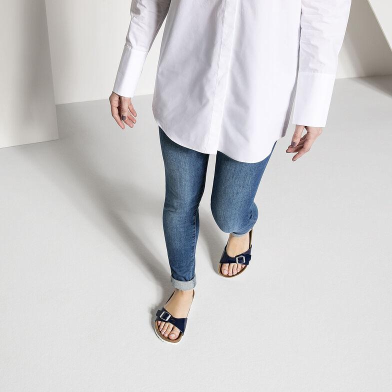 Madrid Birko-Flor Patent Dress Blue