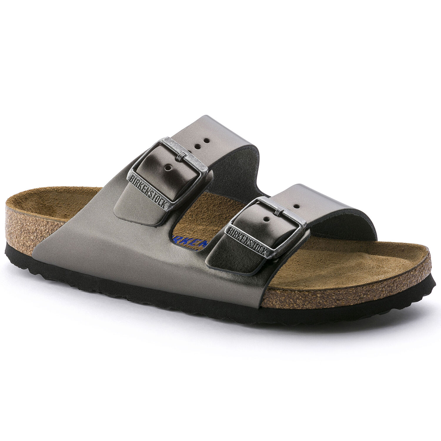 3ff770c0df Arizona Natural Leather Metallic Anthracite | BIRKENSTOCK