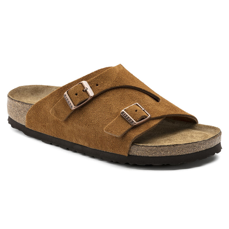 Zürich Suede Leather Soft Footbed Mink