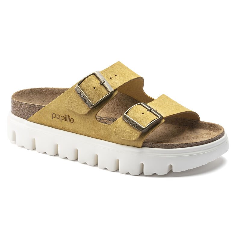 Arizona Platform Suede Leather Ochre