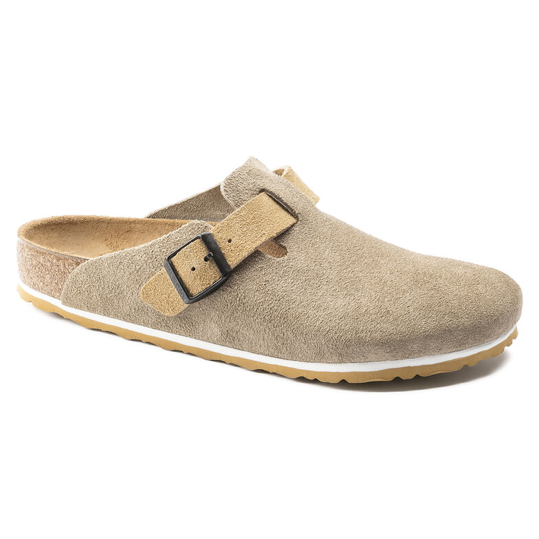 Boston Suede Leather Taupe/Sand