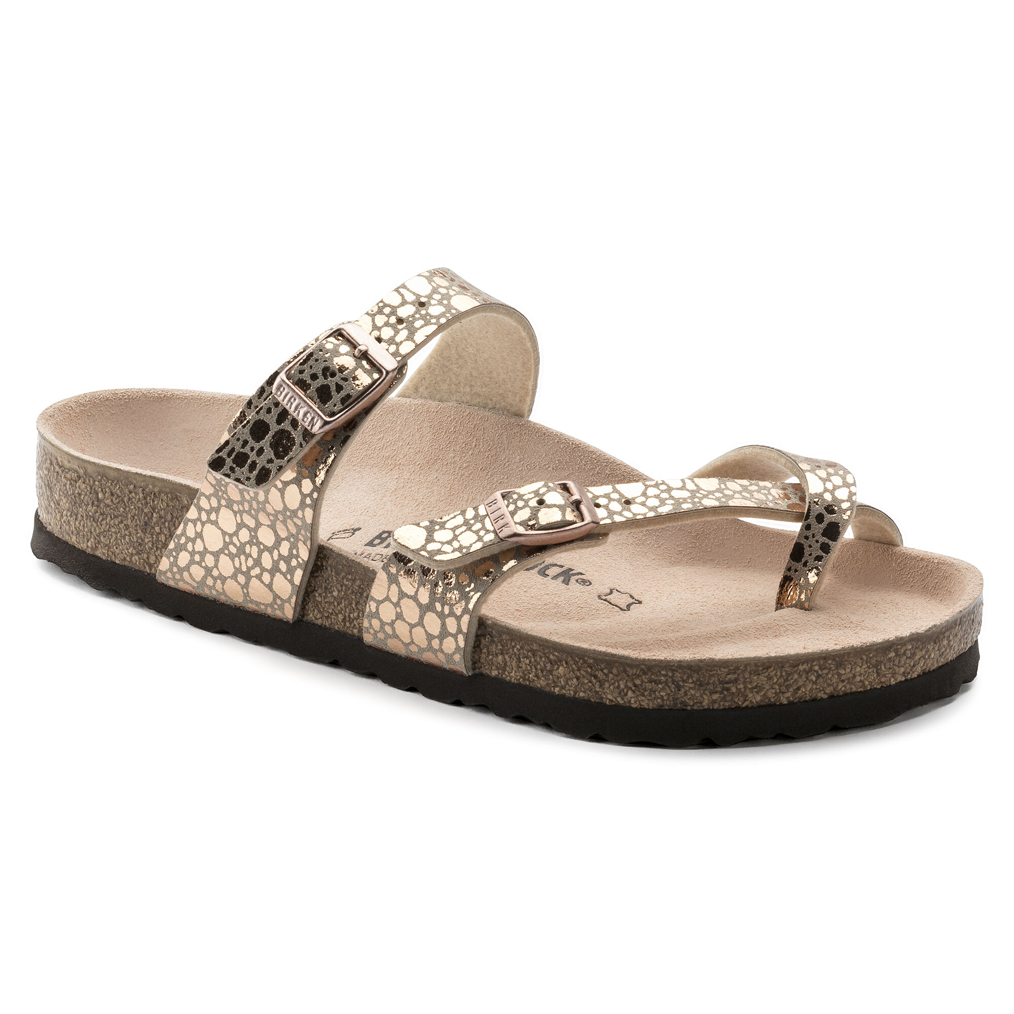 BIRKENSTOCK Womens Arizona Metallic Stones Silver Birko-Flor Sandals 38 EU H8xduBu