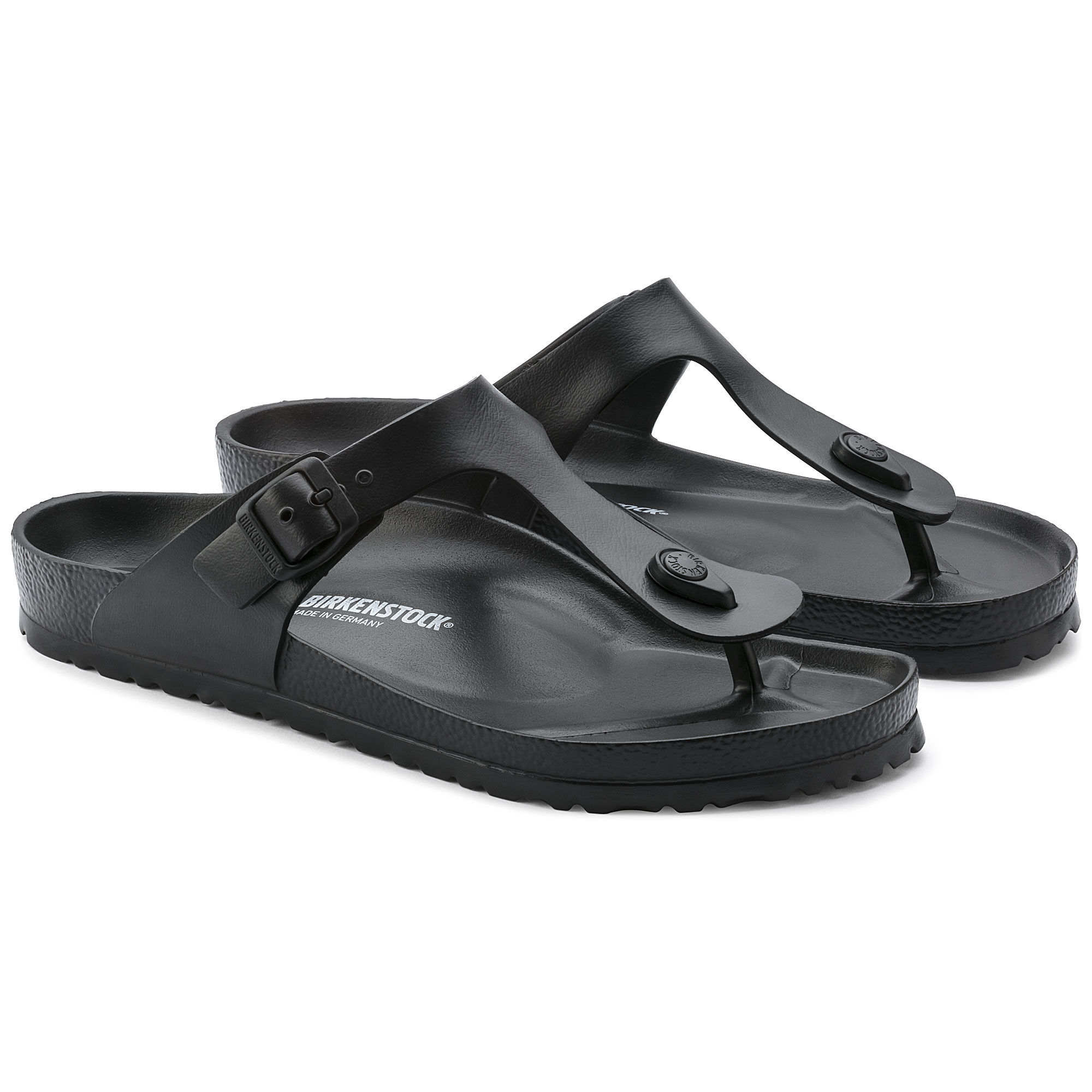 Birkenstock 128201 Classic Gizeh Eva, Women's Sandals, Black (Black), 5.5 UK (39 EU)