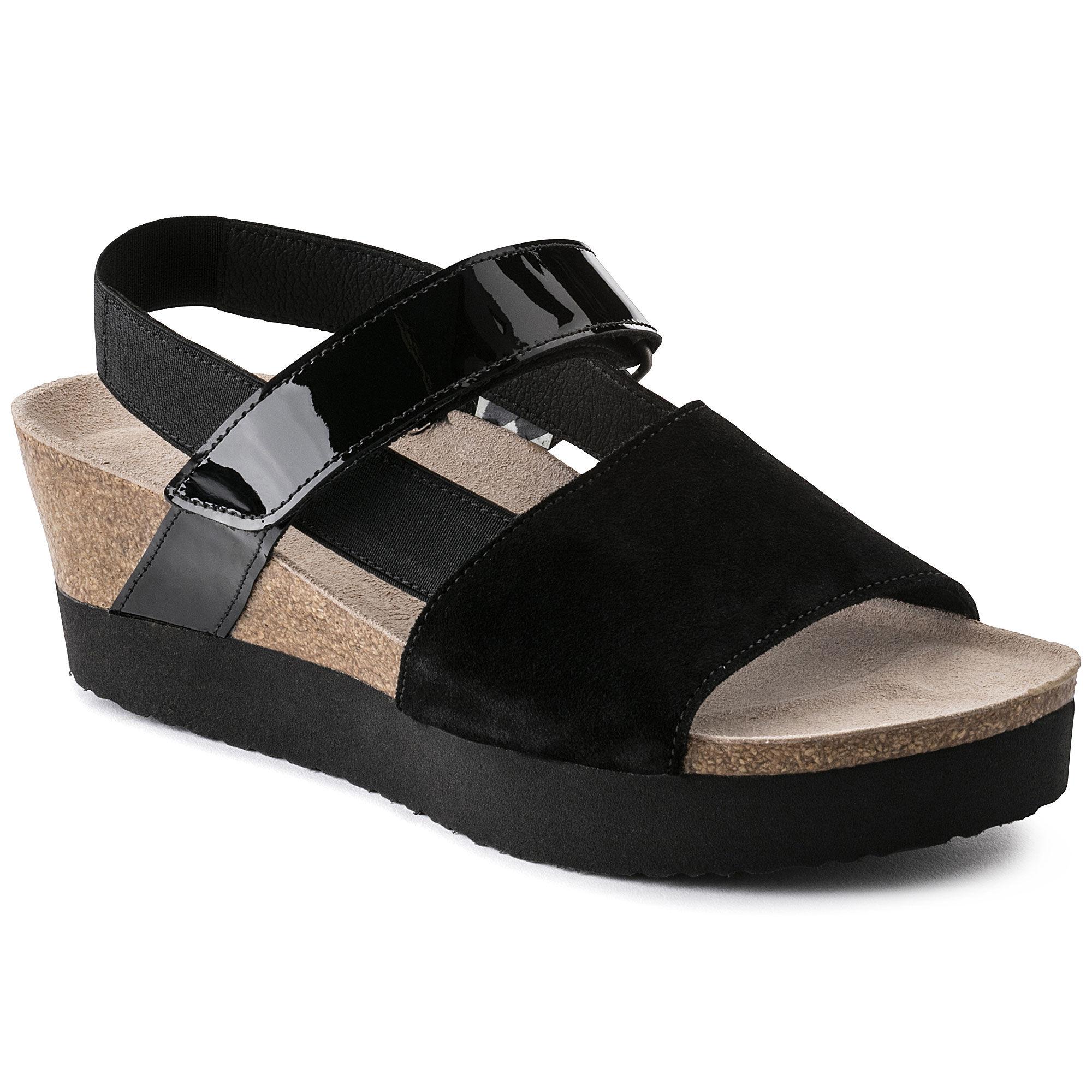 Linda Suede Leather/PVC/Stretch Black
