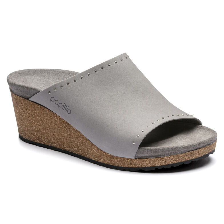 Namica Nubuck Leather Stone Coin Rivets