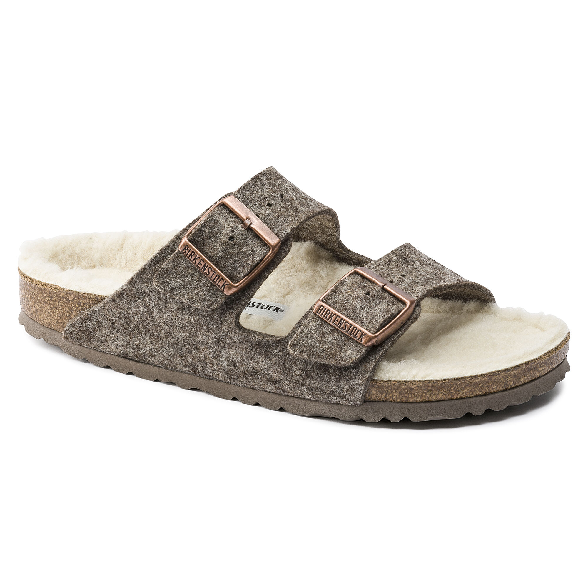 Birkenstock Arizona 1002085 cacao beige Happy Lamb d4ApIzop