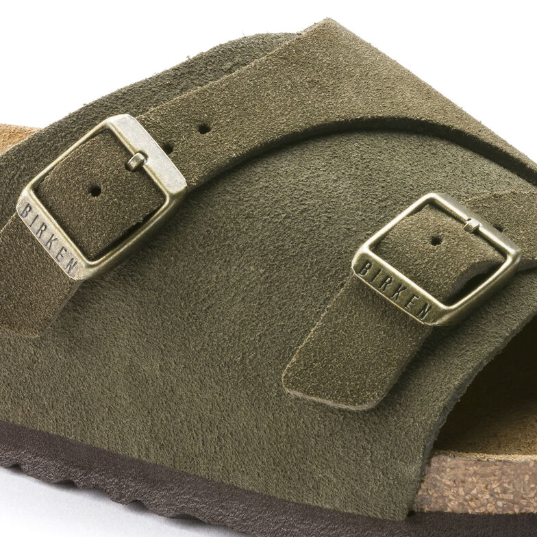 Zürich Suede Leather Soft Footbed Forest
