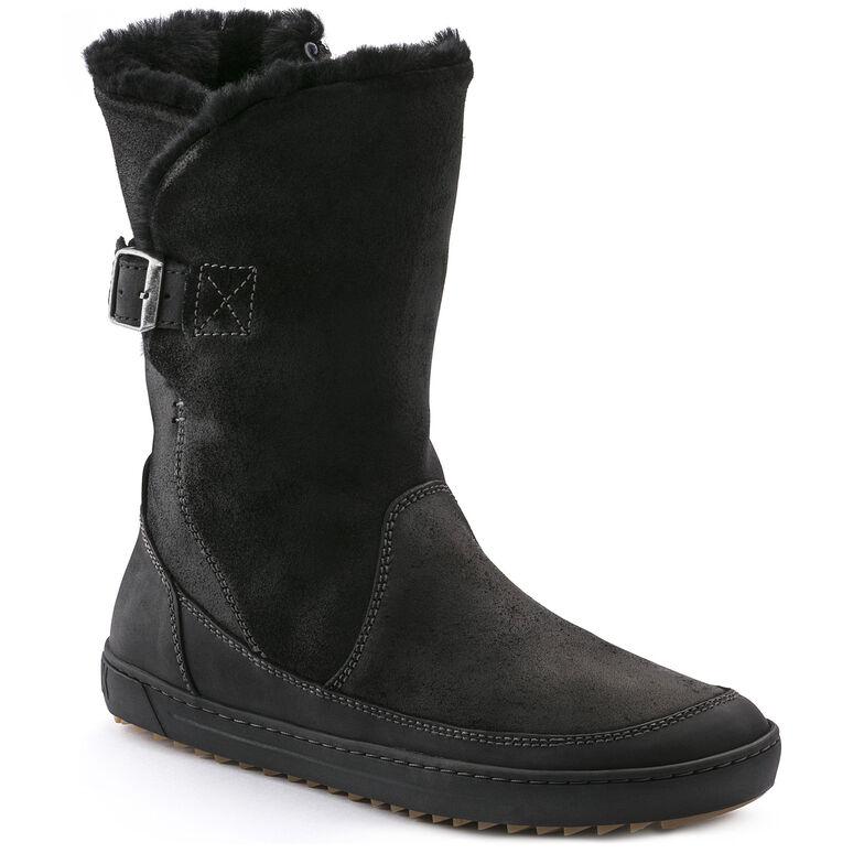 Woodbury Suede Leather Black