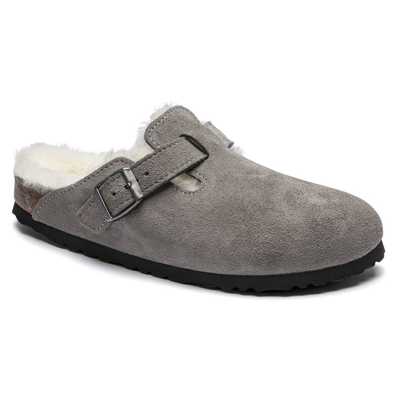 Boston Shearling Suede Leather Stone Coin