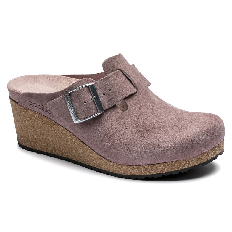 Fanny Suede Leather Lavender Blush