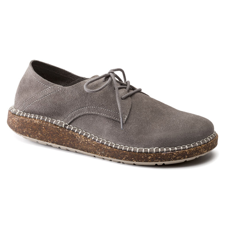 Gary Suede Leather Light Grey