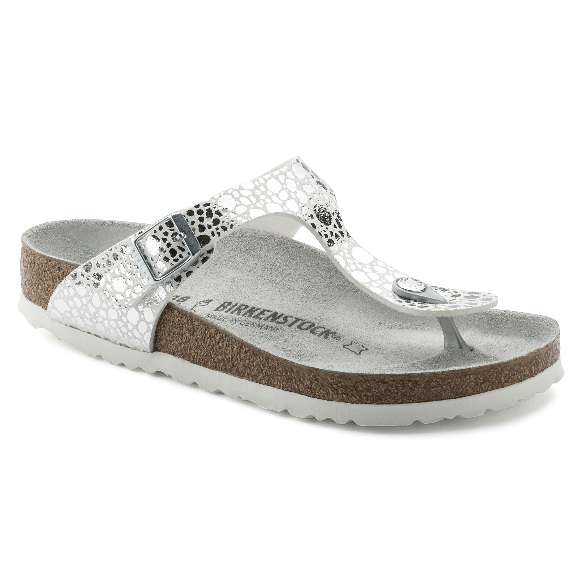 Birkenstock GIZEH - T-bar sandals - metallic stones/silver/gray QGU22