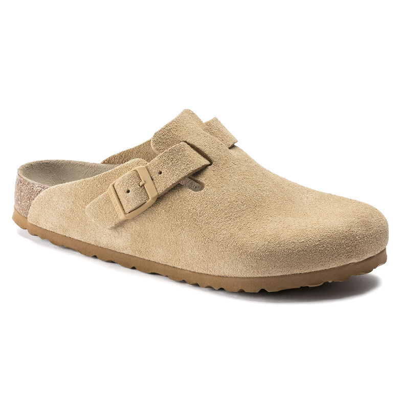 Boston Suede Leather Latte Cream