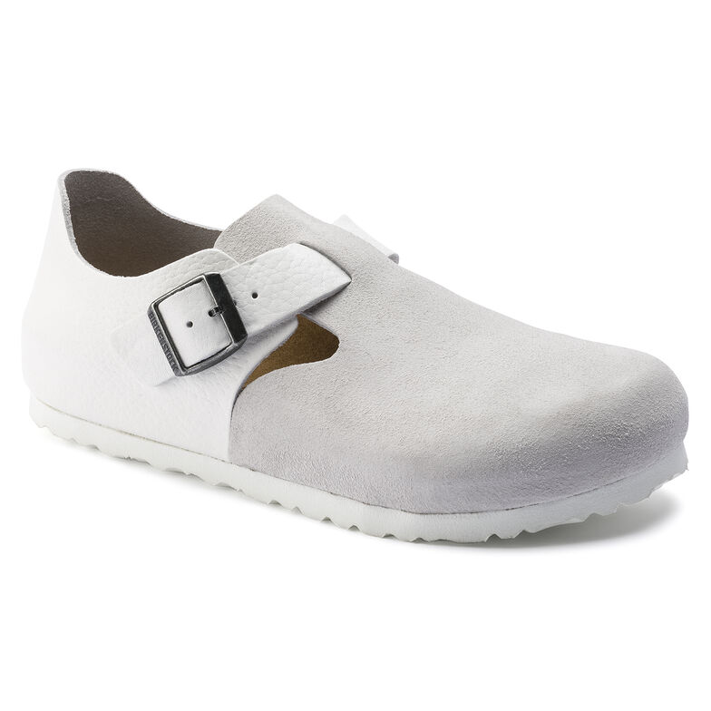 London Suede Leather White
