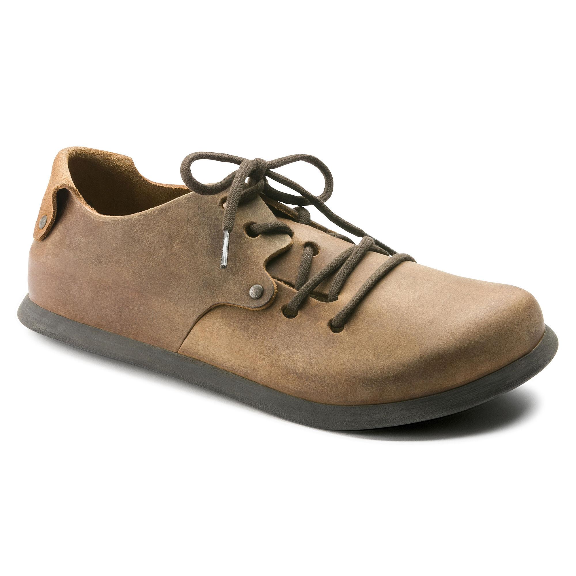 Birkenstock - Zapatos de cordones de cuero para mujer marrón marrón, color marrón, talla 38 Normal