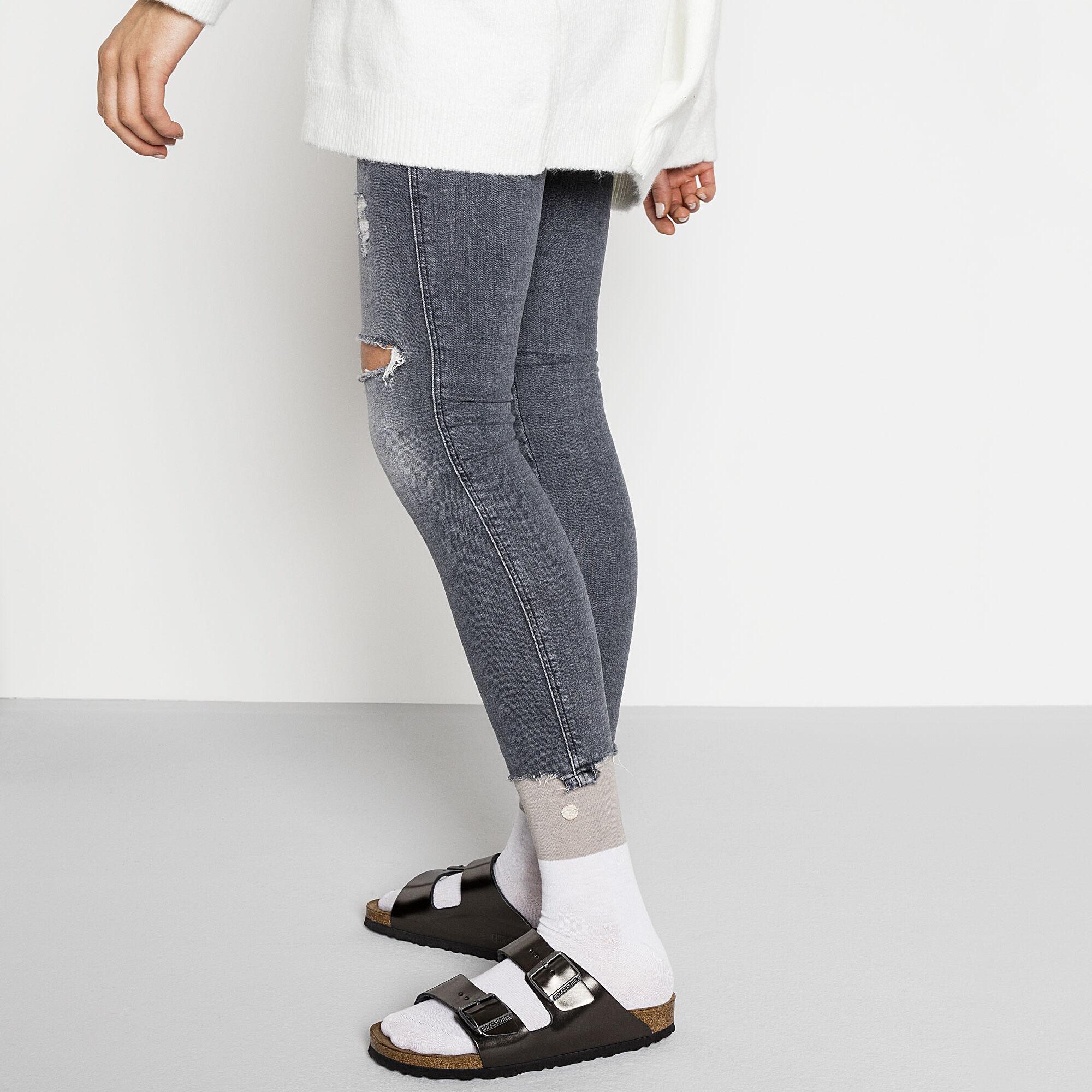 Socke Tabora Gray White