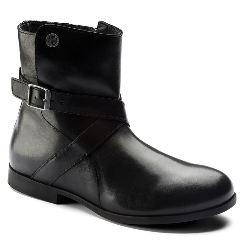 Collins Natural Leather Black