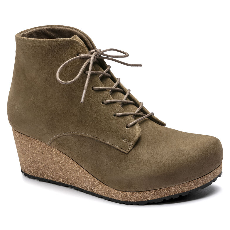 Edith Suede Leather Mud Green