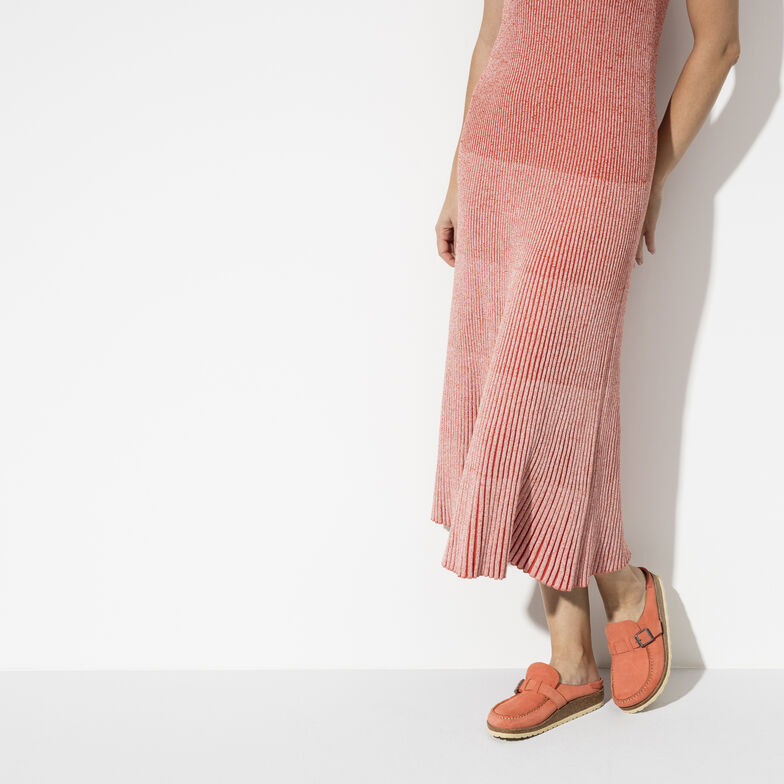 Buckley Suede Leather Coral