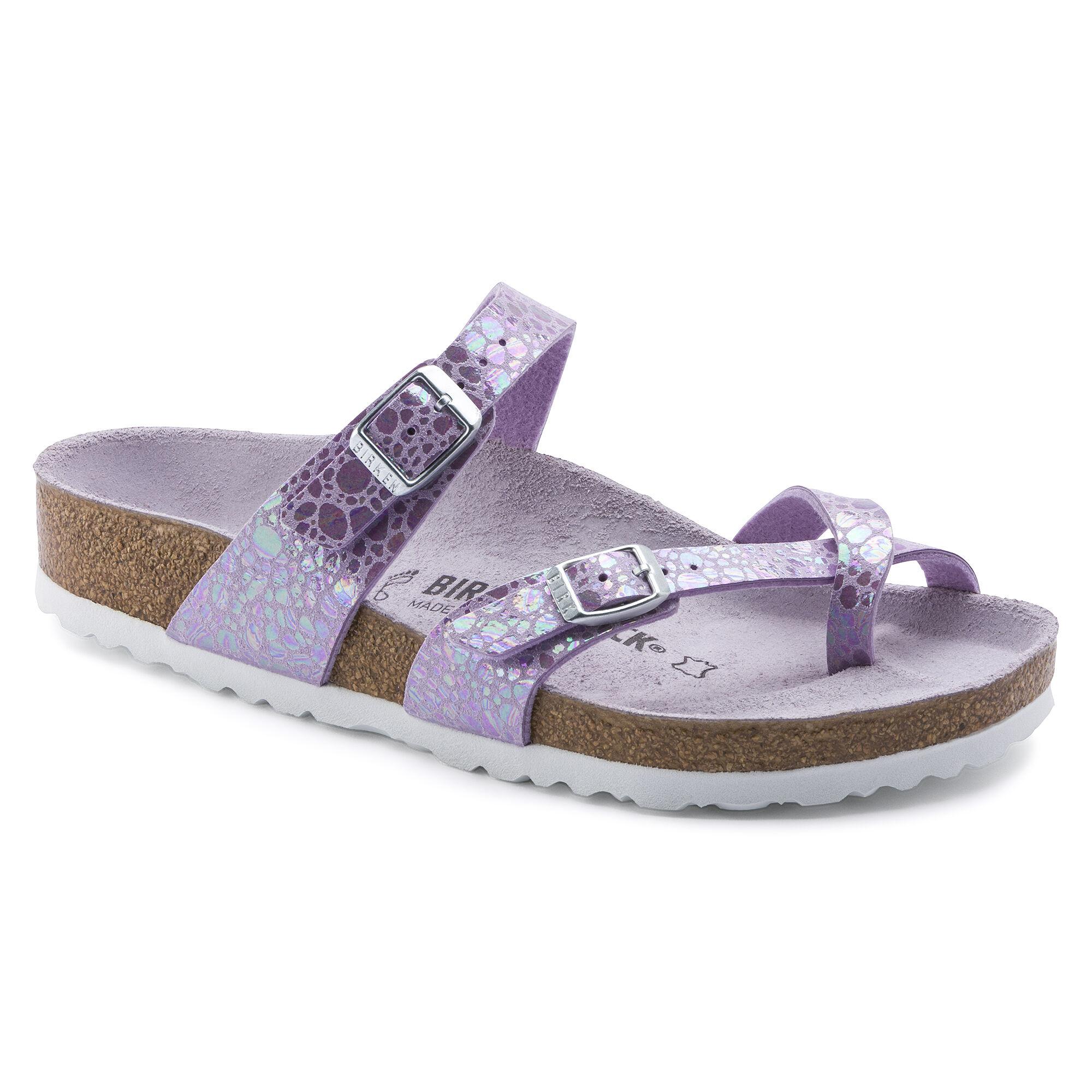 Details about Birkenstock Papillio Gizeh Purple Jeans Look Toe Separators Sandals Birko Flor Womens show original title